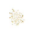 confetti isolated on white background golden vector image
