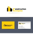 Construction company Business card template vector image vector image