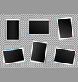 creative set of square photo vector image vector image