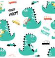 cute dinosaur seamless vector image vector image