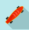 cute longboard icon flat style vector image