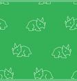dinosaur triceratops pattern seamless vector image