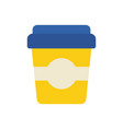 disposable coffee cup office flat icon design vector image