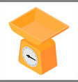 domestic weigh scales vector image