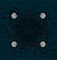 element on blue background vintage baroque floral vector image