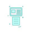 fax icon design vector image