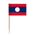 flag of laos flag toothpick on white background vector image