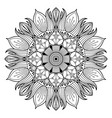 flower mandala vintage decorative elements vector image vector image