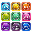 funny cartoon colorful fluffy characters vector image vector image