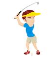 Golfer Cartoon vector image vector image