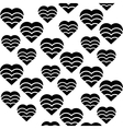 hearts love seamless pattern black and white vector image vector image