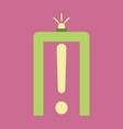 icon in flat design for airport metal detector vector image vector image