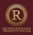 initial monogram with letters glittering fragments vector image