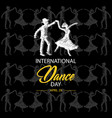 international dance day vector image vector image