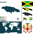 Jamaica map vector image vector image