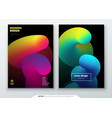 liquid cover set template for brochure banner vector image
