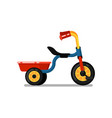little children tricycle isolated icon vector image vector image