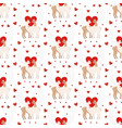 llama in love seamless pattern vector image vector image
