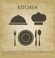 logo kitchen icons vector image vector image