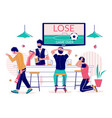 lost football match flat style design vector image vector image