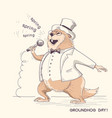 marmot in gentleman clothes with microphone vector image vector image
