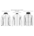 mens jackets collection vector image vector image