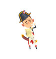 napoleon bonaparte cartoon character standing with vector image vector image