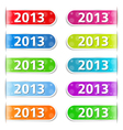 New Year 2013 Tabs vector image vector image