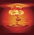 nuclear explosion mushroom cloud vector image vector image