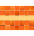 Orange tiles threedimensional - vector image