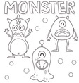 Outlined monsters vector image