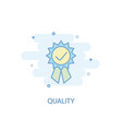 quality line concept simple line icon colored vector image