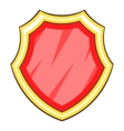Red protection shield icon cartoon style vector image vector image