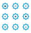 religion icons colored set with koran masjid vector image vector image