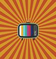 Retro vintage television flat design vector image vector image