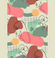 seamless pattern with woman face drawn vector image
