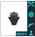 ship icon flat vector image