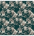 sketch entangle seamless floral pattern vector image