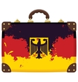 suitcase with a German flag vector image vector image