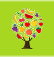 summer fruit tree concept for healthy food diet vector image vector image