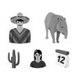 tapir mexican animal a mexican in national vector image