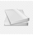 two diaries icon realistic style vector image vector image