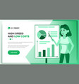 web page business landing responsive vector image
