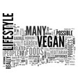 what exactly is vegan text word cloud concept vector image vector image