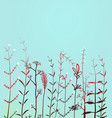 wild field grass background vector image vector image
