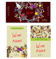 Wine labels set - funny desig vector image vector image