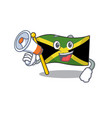 with megaphone flag jamaica isolated with the vector image vector image
