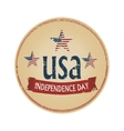 independence day USA logotype vector image