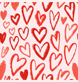 red hearts seamless pattern repeating vector image