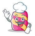 chef marshmallow character cartoon style vector image